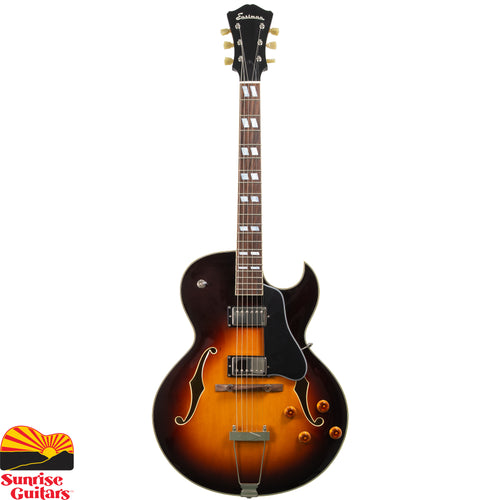 Sunrise Guitars in Fayetteville, Arkansas is proud to carry the Eastman AR372CE Sunburst electric guitar. Fans of traditional or modern jazz will feel right at home with Eastman's handcrafted take on archtop guitars. They've brought classic designs to life and into the hands of legendary players like John Pisano and Frank Vignola.