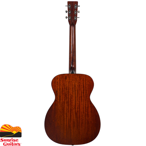 "Sunrise Guitars in Fayetteville, Arkansas is proud to carry the Eastman E10OM acoustic guitar. Built with the methods and materials of the ""Golden Era"" of the 30's & 40's. Solid Adirondack spruce top, solid mahogany back & sides with extremely dynamic response, from soft picking to hard strumming. Glorious full-bodied tone and room-filling volume."