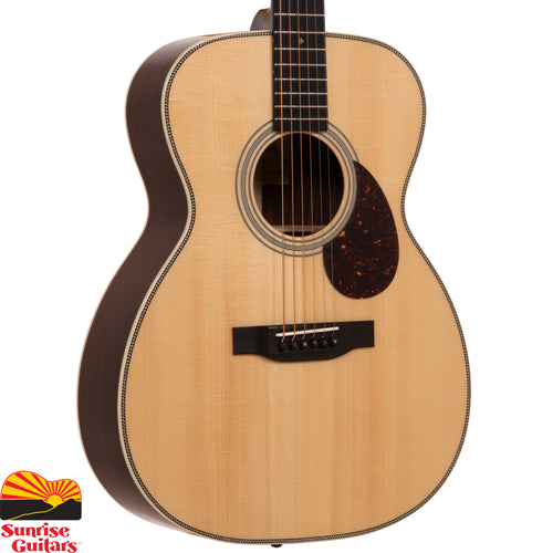 Sunrise Guitars in Fayetteville, Arkansas is proud to carry the Eastman E20OM acoustic guitar. Whether you're a purist seeking a guitar steeped in tradition, or someone with their sights set on a more modern instrument, you'll find what you're looking for in Eastman's Orchestra models.