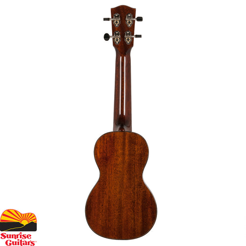 Sunrise Guitars in Fayetteville, Arkansas is proud to carry the Eastman EU3S soprano ukulele. Each ukulele features all solid wood construction with the top, back & sides made from the finest mahogany finished in a high gloss nitrocellulose lacquer. The body is matched with rosewood binding and the fretboard is inlaid with abalone pearl snowflakes.