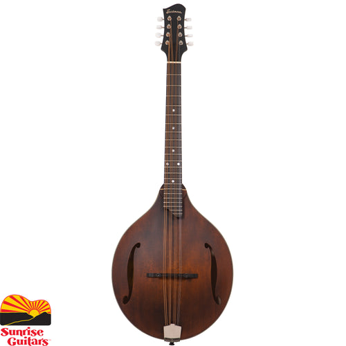 "Sunrise Guitars in Fayetteville, Arkansas is proud to carry the Eastman MDO305 octave mandolin. This octave mandolin has a Maple neck, solid Spruce top, Solid Maple back and sides, and a 21"" scale length. This Eastman MDO305 octave mandolin comes with a padded gig bag."