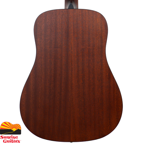 Sunrise Guitars in Fayetteville, Arkansas is proud to carry the Eastman PCH1-D-CLA acoustic guitar. The Eastman PCH1-D-CLA Dreadnought Guitar Is apart of the 'Pacific Coast Highway' series of guitars that offer a quality solid top instrument for those who are looking for a lower priced alternative without a lot of the imperfections of most low-end guitars. These instruments are also perfect for beginners who want to start off with a quality product.