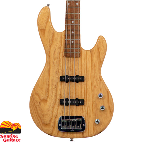 "Sunrise Guitars in Fayetteville, Arkansas is proud to carry the G&L Tribute JB-2 Natural Gloss bass guitar. Players fond of the old adage ""if it ain't broke…"" haven't played a JB-2. You see, the G&L JB-2 is all about refinement, blending ""holy grail"" Alnico single-coil tone with modern Leo Fender improvements."