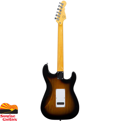 Sunrise Guitars in Fayetteville, Arkansas is proud to carry the G&L tribute Legacy LH 3 Tone Sunburst left handed electric guitar. The G&L Legacy blends contemporary refinements from the Leo Fender-designed S-500 and Comanche models with classic Alnico V pickups. If your holy grail is faithful Alnico single-coil tone with modern refinements and superb craftsmanship, the Legacy makes for an excellent choice.