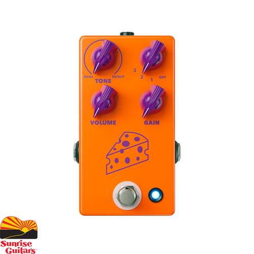 Sunrise Guitars in Fayetteville, Arkansas is proud to carry the JHS Cheese Ball. Long ago in a mysterious time that we call the 1990's, a new pedal company was created in England. Its ideas were off the beaten path, and its sounds were otherworldly.