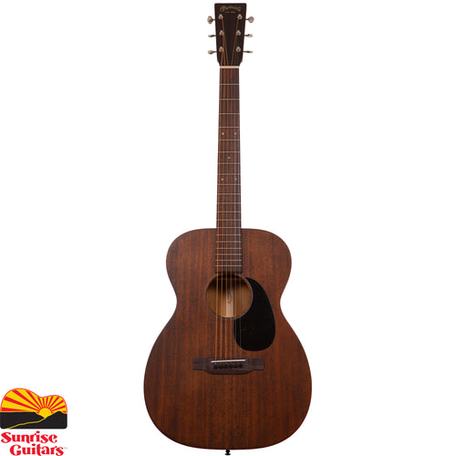 Sunrise Guitars in Fayetteville, Arkansas is proud to carry the Martin 00-15M acoustic guitar. The 00-15M model continues the Martin tradition with a 00-14 fret body size, solid mahogany construction and a rich satin finish. Satisfy your desire with an affordable solid wood guitar that is visually distinctive and innovative.