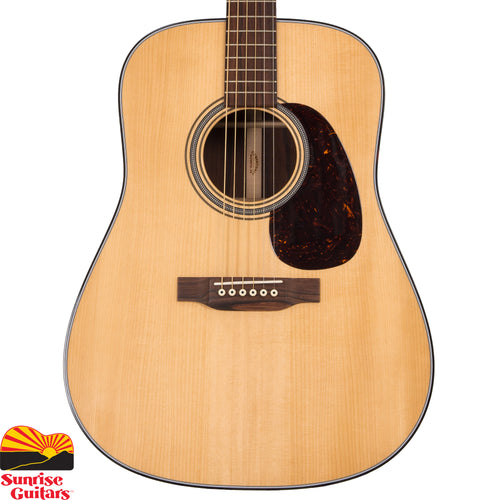 Sunrise Guitars in Fayetteville, Arkansas is proud to carry the Martin Custom Dreadnought guitar. This Martin Custom Shop Dreadnought is the kind of special, one of a kind guitar that you will only find at Sunrise Guitars. With an Adirondack Spruce top and a Guatemalan Rosewood back, this guitar is unique in both look and sound.