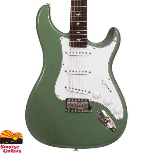 Sunrise Guitars in Fayetteville, Arkansas is proud to carry the PRS John Mayer Silver Sky Orion Green electric guitar. The PRS Silver Sky is the result of a close collaboration between Grammy Award-winning musician John Mayer and Paul Reed Smith. More than two and half years in the making, the Silver Sky is a vintage-inspired instrument that is at once familiar but also newly PRS through and through.
