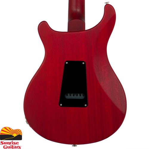 Sunrise Guitars in Fayetteville, Arkansas is proud to carry the PRS S2 Standard Satin 22 Vintage Cherry electric guitar. The S2 Standard 22 Satin is a workhorse guitar for gigging musicians. With an all mahogany body and 22-fret set mahogany neck, this guitar is warm and sweet, making it toneful enough to stand up plugged straight into an amplifier and solid enough to serve as a great platform for even the most modern pedal board set up.