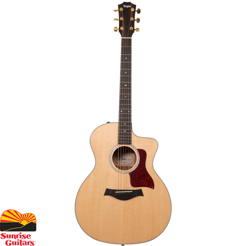 Sunrise Guitars in Fayetteville, Arkansas is proud to carry the Taylor 214ce Deluxe acoustic guitar.With a solid Sitka spruce top and layered Indian rosewood back and sides, this Grand Auditorium guitar delivers a rich, nuanced tone profile punctuated by high-end sparkle and midrange punch.