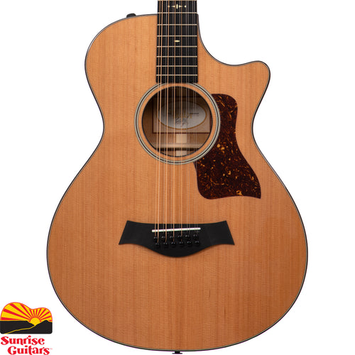 Sunrise Guitars in Fayetteville, Arkansas is proud to carry the Taylor 552ce acoustic guitar. Players who find the traditionally bigger size of a 12-string body unwieldy will love the playing comfort of the 552ce 12-Fret.
