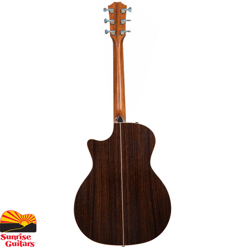Sunrise Guitars in Fayetteville, Arkansas is proud to carry the Taylor 814ce Deluxe acoustic guitar. This luxurious rosewood/spruce acoustic-electric Grand Auditorium reaches new levels of performance thanks to Taylor's patented V-Class bracing.