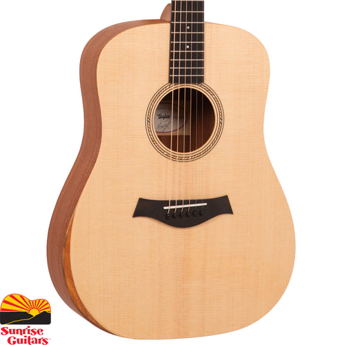 Sunrise Guitars in Fayetteville, Arkansas is proud to carry the Taylor Academy 10 acoustic guitar. Designed and built with beginner guitar players in mind, the Academy Series 10 combines the full-bodied tone and response of the classic dreadnought shape with Taylor's standards of comfort and playability.