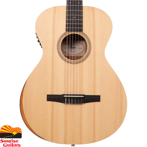 Sunrise Guitars in Fayetteville, Arkansas is proud to carry the Taylor Academy 12e Nylon acoustic guitar. This acoustic/electric nylon-string Grand Concert from Taylor's Academy Series may be the best nylon-string guitar you'll find for the money.