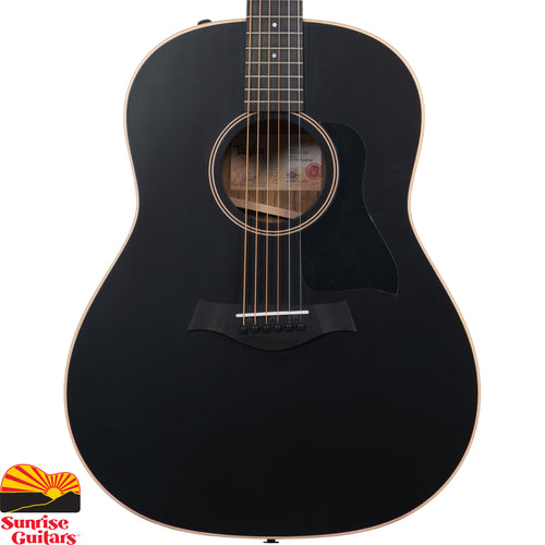 Sunrise Guitars in Fayetteville, Arkansas is proud to carry the Taylor AD17e Blacktop acoustic guitar. Built with solid ovangkol back and sides and a black, solid spruce top, the Grand Pacific AD17e asserts itself with a bold throwback aesthetic that complements its vintage-inspired tone.