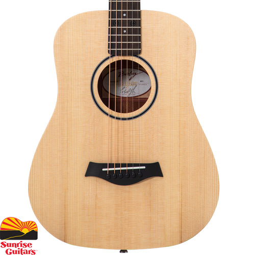 Sunrise Guitars in Fayetteville, Arkansas is proud to carry the Taylor BT1 acoustic guitar. The guitar that set the standard for the travel guitar market, the enduringly popular Baby Taylor makes a great musical companion.