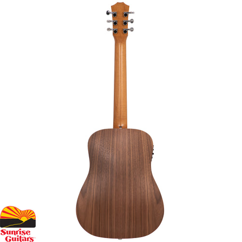 Sunrise Guitars in Fayetteville, Arkansas is proud to carry the Taylor BT1e acoustic guitar. The guitar that set the standard for the travel guitar market, the enduringly popular Baby Taylor makes a great musical companion. Portable, playable and affordable, the Baby features a solid spruce top and yields impressive volume and tone for its compact, three-quarter-size scale.