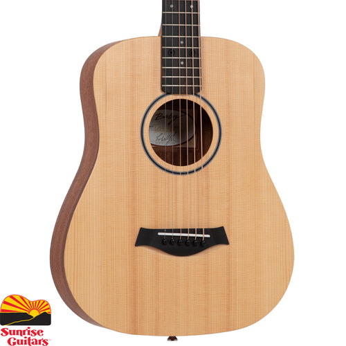 Sunrise Guitars in Fayetteville, Arkansas is proud to carry the Taylor BT1-LH acoustic guitar. The ¾-size Baby Taylor firmly established the travel guitar category years ago and today is more popular than ever.