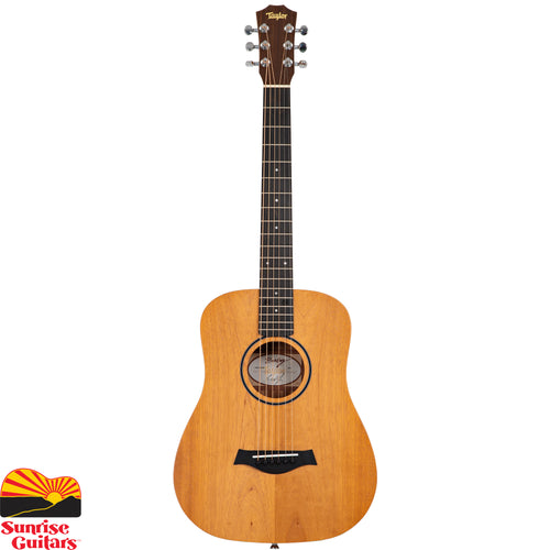 Sunrise Guitars in Fayetteville, Arkansas is proud to carry the Taylor BT2 acoustic guitar. This mahogany-top edition of the Baby Taylor will yield a slightly darker, earthier tone than its spruce top sibling. At the heart of it all is an authentic guitar sound and inviting playing experience.