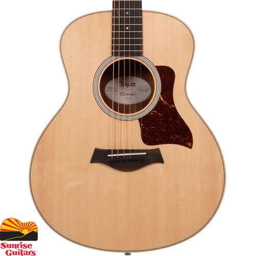 Sunrise Guitars in Fayetteville, Arkansas is proud to carry the Taylor GS Mini Rosewood acoustic guitar. An exciting new entry in Taylor's lineup of ultra-popular short-scale guitars, this rosewood edition of the GS Mini brings the beauty and resonance of the all-star acoustic tonewood to a comfortable, easy-to-transport package.
