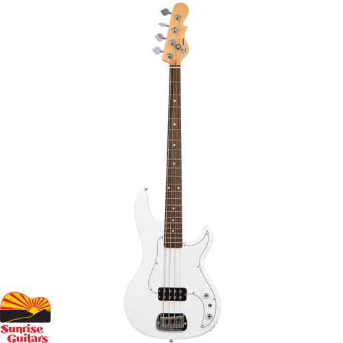 Sunrise Guitars in Fayetteville, Arkansas is proud to carry the G&L Tribute Kiloton Olympic White bass guitar. The verdict became clear so fast it would have put that wry grin on Leo's face: the Made-in-Fullerton Kiloton is a smash-hit. Demand from players and musicians alike for a Tribute Series version thundered with the same visceral punch as the bass itself delivers. And the moment of impact is now: meet the new G&L Tribute Series Kiloton.