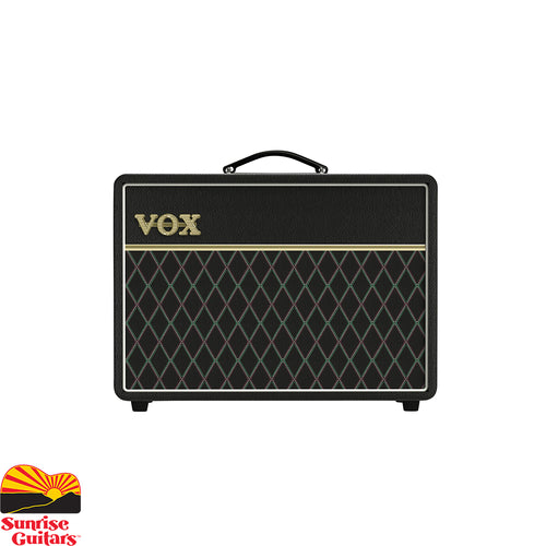 Sunrise Guitars in Fayetteville, Arkansas is proud to carry the Vox AC10C1-VS. The new, limited edition VOX AC10C1VS features an upgraded Celestion Junior V-Type speaker and a cool, vintage-inspired look. 10 Watt tube combo offering the classic VOX Top Boost tone.