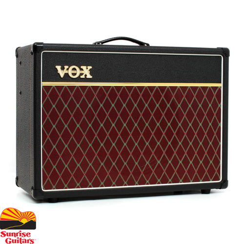 Sunrise Guitars in Fayetteville, Arkansas is proud to carry the Vox AC-15C1X. The VOX AC15 is the amp that started it all. Boasting both a Normal and Top Boost channel, the AC15 Custom is an all-tube, EL84 driven workhorse that delivers 15 watts of authentic British tone into a genuine Alnico Blue speaker.