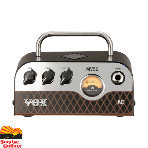 Sunrise Guitars in Fayetteville, Arkansas is proud to carry the Vox MV50 AC. Designed with an emphasis on analog, VOX's MV50 combines classic amplifier design with new and innovative production techniques to produce a miniature amplifier with truly monstrous sound.