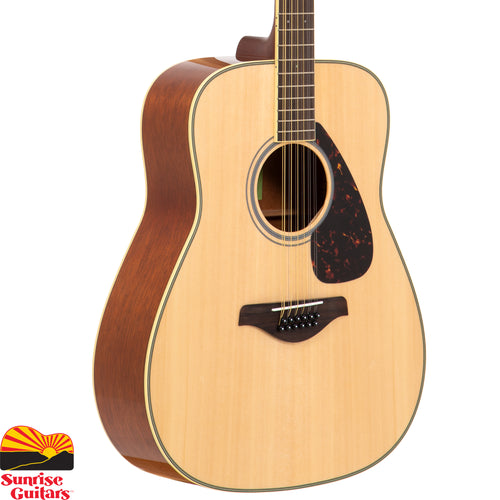 Sunrise Guitars in Fayetteville, Arkansas is proud to carry the Yamaha FG820-12 acoustic guitar, a 12-string version of the FG820.