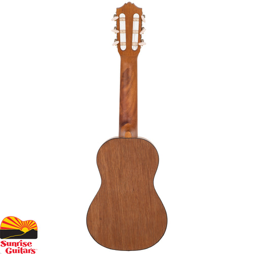 "Sunrise Guitars in Fayetteville, Arkansas is proud to carry the Yamaha GL1. Introducing the Yamaha GL1 Guitalele, now officially available for the first time in the USA! Half guitar, half ukulele…100% fun. A unique mini 6-string nylon guitar that is sized like a baritone ukulele (17"" scale) and plays like a standard tune guitar."