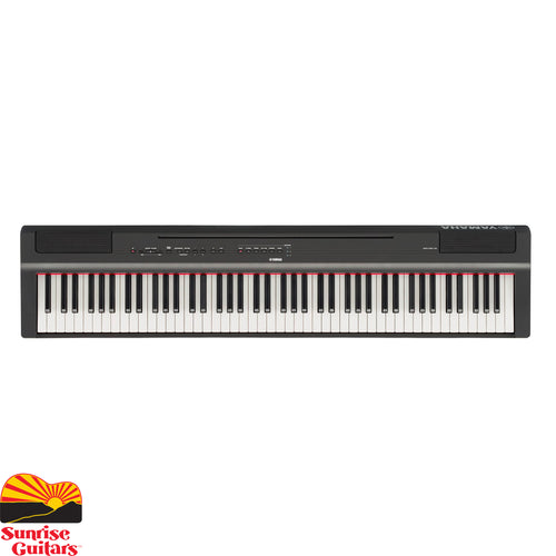 Sunrise Guitars in Fayetteville, Arkansas is proud to carry the Yamaha P125B keyboard. The Yamaha P-125 is a compact digital piano that combines incredible piano performance with a user-friendly minimalistic design.