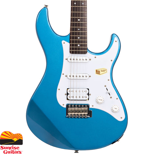 Sunrise Guitars in Fayetteville, Arkansas is proud to carry the Yamaha PAC112J Lake Placid Blue electric guitar. One of the best electric guitar values for over a decade, Yamaha Pacifica guitars are well known for great tone and outstanding playability.