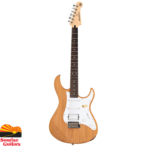 Sunrise Guitars in Fayetteville, Arkansas is proud to carry the Yamaha PAC112J Natural electric guitar. One of the best electric guitar values for over a decade, Yamaha Pacifica guitars are well known for great tone and outstanding playability.