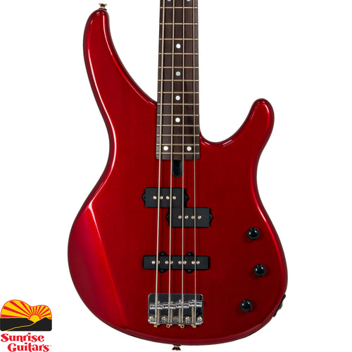 Sunrise Guitars in Fayetteville, Arkansas is proud to carry the Yamaha TRBX174 Red Metallic bass guitar. The TRBX174 represents a price breakthrough for the TRBX range, yet the quality is everything you'd expect from a Yamaha bass.