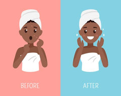 facial cleansing before after