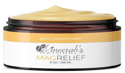 Magnesium Relief Body Conditioner - In Shower Lotion 8 ozs / 1 Jar All Natural Body Conditioner Ameerah's Naturals