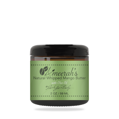 Natural Whipped Mango Body Butter & Olive Oil 2 ozs / 1 Jar / None Ameerah's Naturals