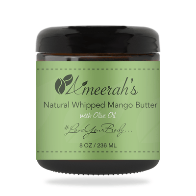 Natural Whipped Mango Body Butter & Olive Oil 8 ozs / 1 Jar / None Ameerah's Naturals