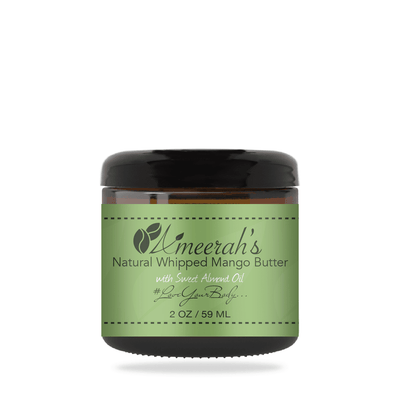 Natural Whipped Mango Body Butter & Sweet Almond Oil 2 ozs / 1 Jar / None Ameerah's Naturals