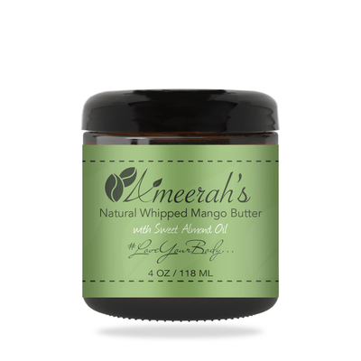 Natural Whipped Mango Body Butter & Sweet Almond Oil 4 ozs / 1 Jar / None Ameerah's Naturals