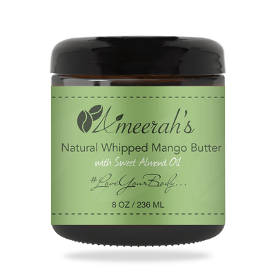Natural Whipped Mango Body Butter & Sweet Almond Oil 8 ozs / 1 Jar / None Ameerah's Naturals