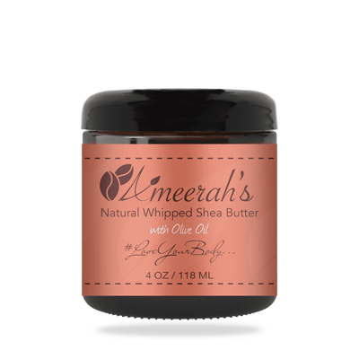 Natural Whipped Shea Body Butter & Olive Oil 4 ozs / 1 Jar / None Ameerah's Naturals