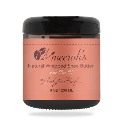 Natural Whipped Shea Body Butter & Olive Oil 8 ozs / 1 Jar / None Ameerah's Naturals