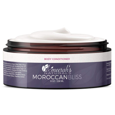 New - Moroccan Bliss Body Conditioner - In Shower Lotion 8 ozs / 1 Jar All Natural Body Conditioner Ameerah's Naturals