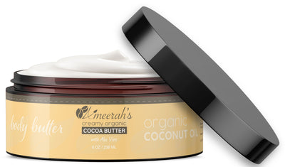 New - Organic Cocoa Body Butter & Coconut Oil with Aloe Vera & Vitamin E All Natural Body Butter Ameerah's Naturals