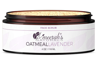 Oatmeal Lavender Face Scrub 4 ozs / 1 Jar All Natural Face Scrub Ameerah's Naturals