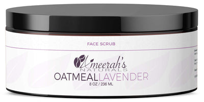 Oatmeal Lavender Face Scrub 8 ozs / 1 Jar All Natural Face Scrub Ameerah's Naturals
