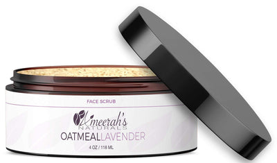 Oatmeal Lavender Face Scrub All Natural Face Scrub Ameerah's Naturals