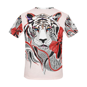 tiger (4) All Over Print T-Shirt for Men (USA Size) (Model T40) - Ugly Station