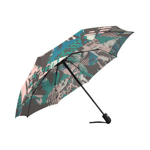 Trendy Seamless Exotic Pattern with Palm Animal Auto-Foldable Umbrella (Model U04) - Ugly Station
